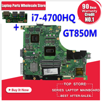 Send board +N56JR Motherboard i7 4700HQ GT850M For ASUS N56J G56J G56JR laptop Motherboard N56JR Mainboard N56JR main board