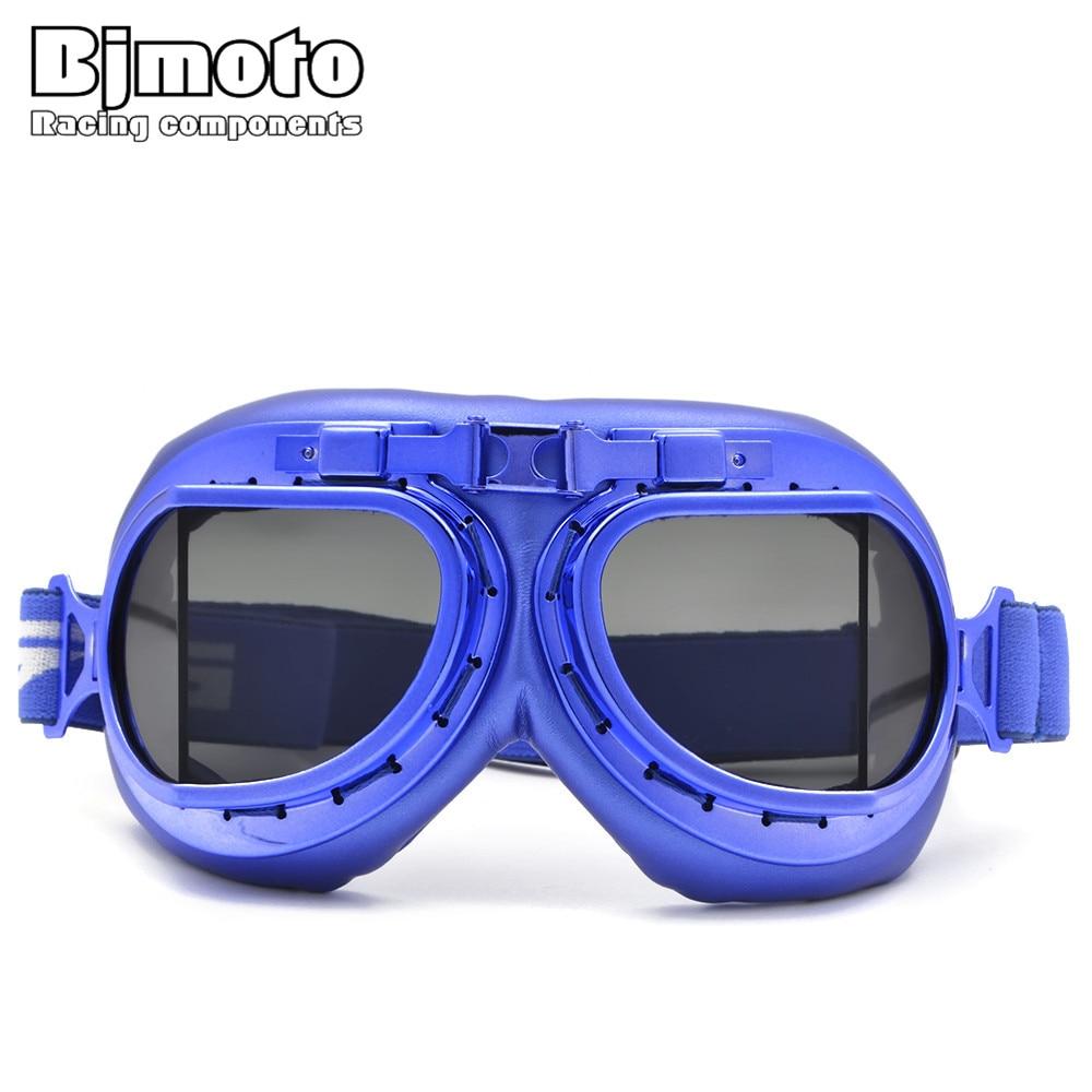 Bjmoto For Harley Motorcycle Bike Windproof Goggles Moto Pilot Biker Helmet Glasses
