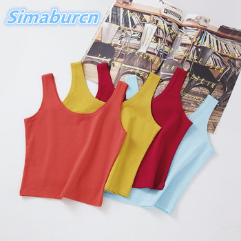 Multicolor Women Tank Tops New Summer Sleeveless Strapless Sexy Femme Casual Girl Slim Short T Shirt Vest Ladies Camis Female 2019 new sexy women s elastic strap stretch tight lady camis vest tank tops female slim sleeveless camis black white tees