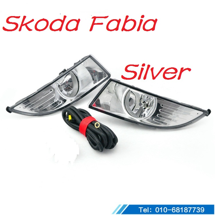 Fabia fog ligh2012~2014,Black/Silver,2pcs,Fabia halogen light,Free ship! Fabia headlight;Octavia,superb fabia greenline в украине