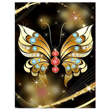 New diamond painting animal gold butterfly embroidery cross stitch part rhinestone home decoration