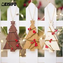 Christmas Tree Rattan Wooden Decorative Pendant Creative Decoration Listed Wholesale Decorations For Home