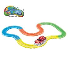 221 stks / set Magic Track Speelgoed Vergadering Educatief Gloeien In Dark Flexibele Railway Magic Racing Track Met LED Auto Diecasts Speelgoed