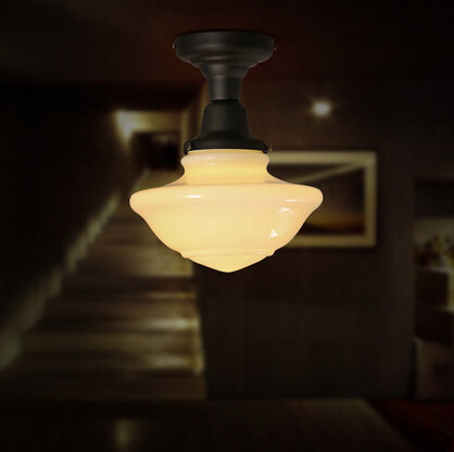 ФОТО Mushroom Creative Industrial Vintage LED Ceiling Lights For Cloakroom Aisle Corridor Entrance Bar Lamparas De Techo