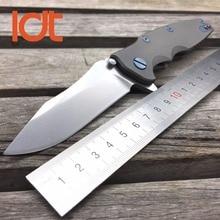 LDT ZT 0392 Pliant Lame Couteaux M390 Lame Titanium Poignée Roulement À Billes Tactique Camping Couteau de Survie En Plein Air OEM Outils EDC
