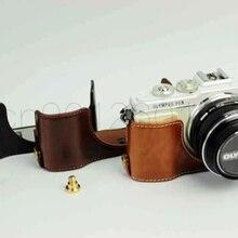 Чехол для камеры с аккумулятором из искусственной кожи для Olympus Pen Lite E-PL7 E-PL8 черный/коричневый/кофейный EPL7 EPL8 EPL9 с винтом
