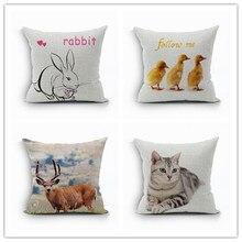 цены Rabbit Pillowcases For Bed Room Fronha Capa De Almofada Lovely Pillow Cover Organizadores Para Casa