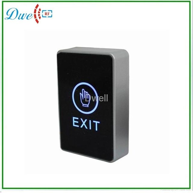 Free Shipping NO/NC/COM out put infrared sensor touch screen door release exit button for access control
