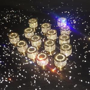 Image 5 - 24k ouro real ou cromo checa cristal gaveta armário botões guarda roupa puxadores de móveis puxadores puxadores
