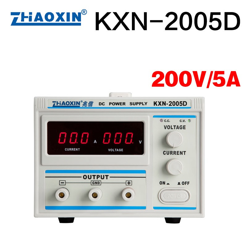 KXN-2005D digital DC switching power supply adjustable battery test charging aging automotive equipment 200V / 5A new kxn 1005d high power switching dc power supply adjustable dc 0 100v 0 5a
