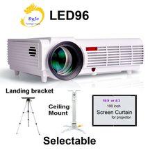 LED96 LED font b Projector b font Video HDMI USB 1280x800 Full HD 1080P font b