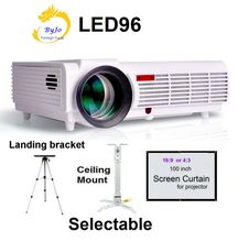 Poner Saund LED96 LED Projector Video HDMI 1280x800 Full HD 1080P Home theater projector High lumens