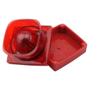 Image 3 - Strobe Sirene Sound und Licht Feuer Alarm Wasserdichte Herkömmlichen Strobe Sounder Red Flash Licht und Horn