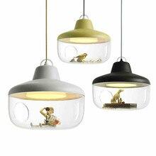 Nordic arte acryl pingente lâmpada adorável personalidade crianças luz restaurante pendurado luz do quarto luminárias com lâmpadas led