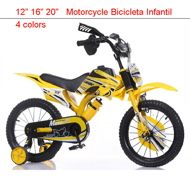 "16"" Mountain Bikes for Child Motorcycle Vocalization Kids Bike Toy Bar  Bicicleta Infantil 4 colors Buggiest Mdash Pedal Child"