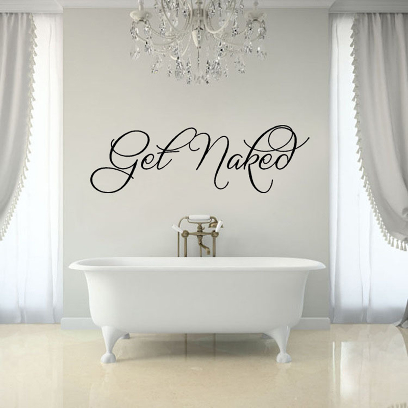 Cute Bathroom Wall Sticker Design