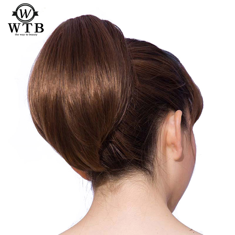 WTB Straight Hair Synthetic Drawstring Ponytail Resist High Temperature Hairpieces Short Claw In Ponytail Extension