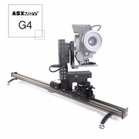 ASXMOV-G4 4-axis pan tilt focus video slider dolly rail timelapse gemotoriseerde DSLR camera slider voor Sony voor Canon voor camcorder