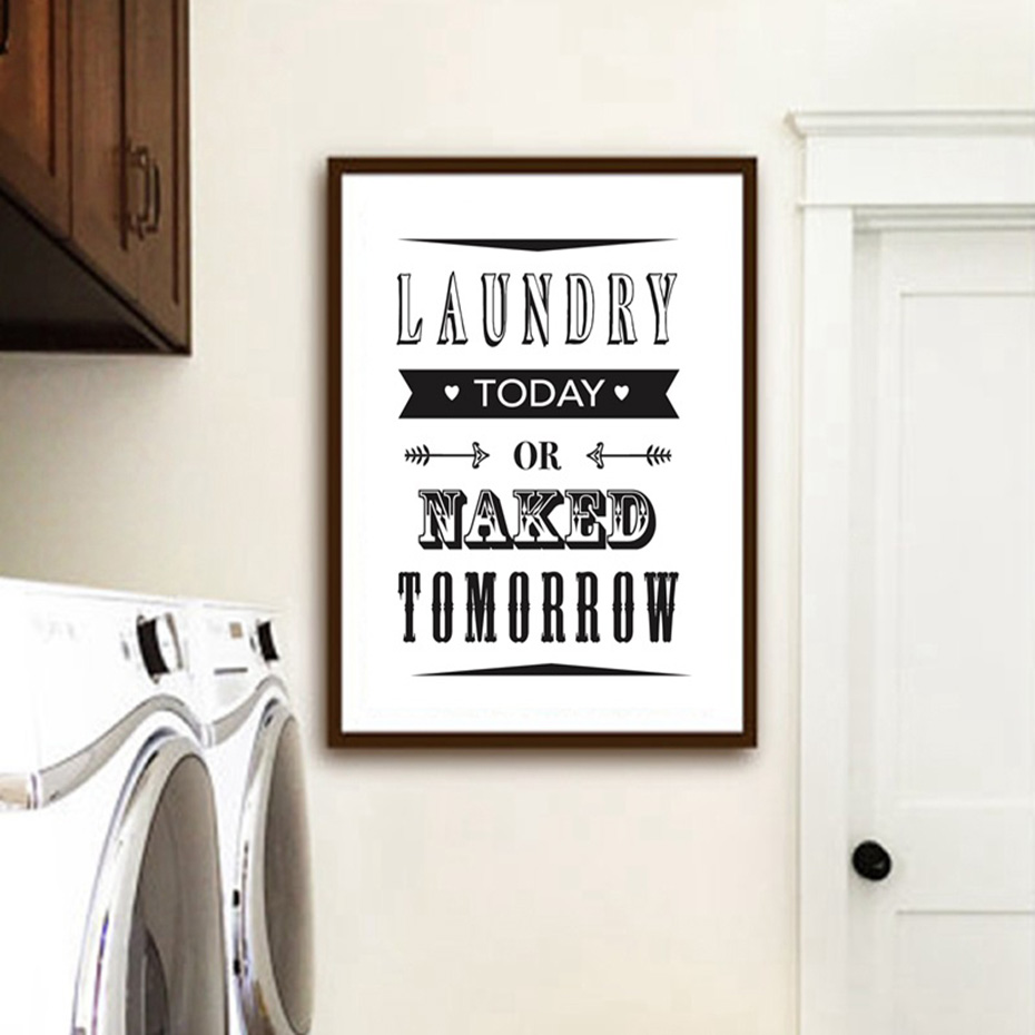Laundry Room Decorative Posters Prints Modern Clean Quotes Canvas Painting For Bathroom Home Decor Wall Art Pictures Family Gift (3)