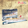 Handmade DIY Cubicfun 3D paper Puzzle new arrival packaging boat Cruise ship  Model  Children Toys Birthday Gifts T4006h