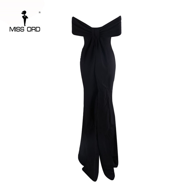 Free Shipping  Missord 2019 Sexy Floor-Lenght Bow backless elegant party dress strapless bodycon  FT3901 5