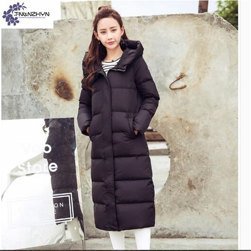 TNLNZHYN NEW winter Women clothing high end Cotton coat fashion hooded Big  yards Thicken warm female long Cotton Outerwear QQ296-in Parkas from Women s  ... 2982d65dd