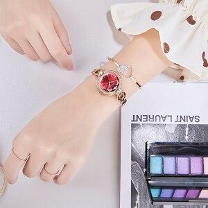 Image 5 - KIMIO Merk Dames Armband Horloges Voor Vrouwen Mode Kleine Wijzerplaat Horloge 2019 Top Merk Luxe Vrouwelijke Horloge Relogio Feminino
