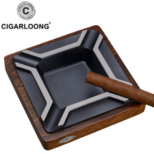 cigar ashtray Large Metal solid wood fashion personality ktv N4