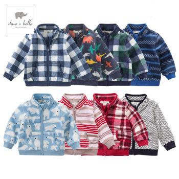 DB396 dave bella autumn infant baby boys fashion multicolor kids toddler coat handsome children clothes image