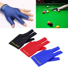 Wholesale Spandex Snooker Billiard Cue Glove Pool Left Hand Open Three Finger Accessory 3 Colors free