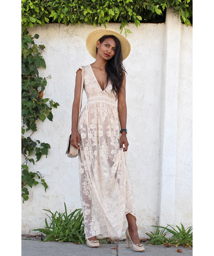 e2c5e8f180 Women Love Luxury White Temecula Maxi Dress Embroidered Floral Mesh  Maxidress Elegance White Embroidery Lace Maxi Dress-in Dresses from Women's  Clothing on ...