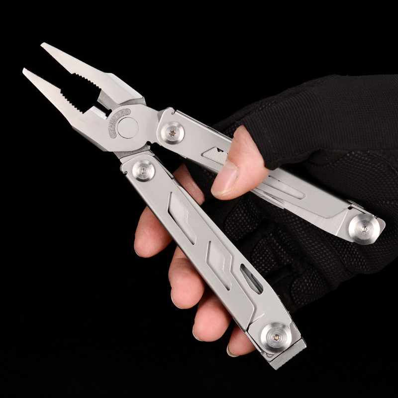 Tools : 2019 New Design Multi Tools Plier Folding Knife Survival Multitool Outdoor EDC Gear Camping Fishing Tool Stainless Steel