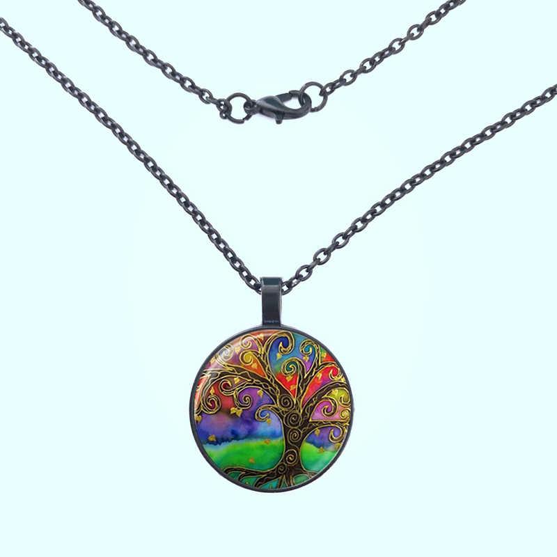 Модное стеклянное ожерелье с картиной ретро дерево жизни ожерелье подвеска с деревом жизни ожерелье стеклянный купол Подвеска Ожерелье Аксессуар