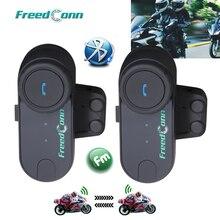 2 個freedconn TCOM OS 100 1200m bt bluetoothのオートバイヘルメットインターホンインターホンヘッドセットオートバイヘルメット用フルfac