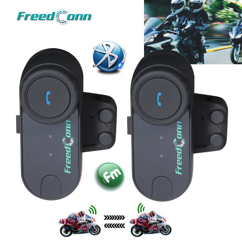 Freedconn Interphone Headset Motorcycle-Helmet Bluetooth BT 100m 2PCS for Full-Fac TCOM-OS