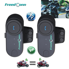 2PCS FreedConn TCOM OS 100m BT Bluetooth Motorcycle Helmet Intercom Interphone Headset Motorcycle Helmets Headphone for Full Fac
