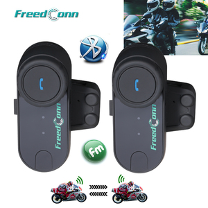 Image 1 - 2PCS FreedConn TCOM OS 100m BT Bluetooth Motorcycle Helmet Intercom Interphone Headset Motorcycle Helmets Headphone for Full Fac