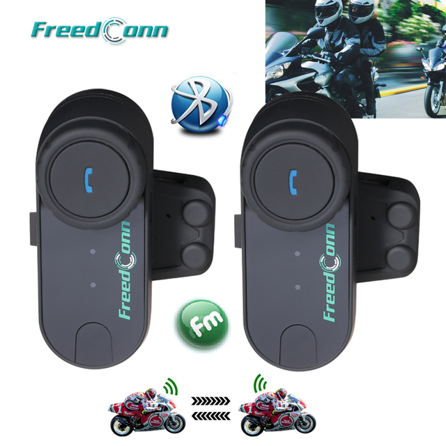 2PCS FreedConn TCOM-OS 100m BT Bluetooth Motorcycle Helmet Intercom Interphone Headset Motorcycle Helmets Headphone for Full Fac