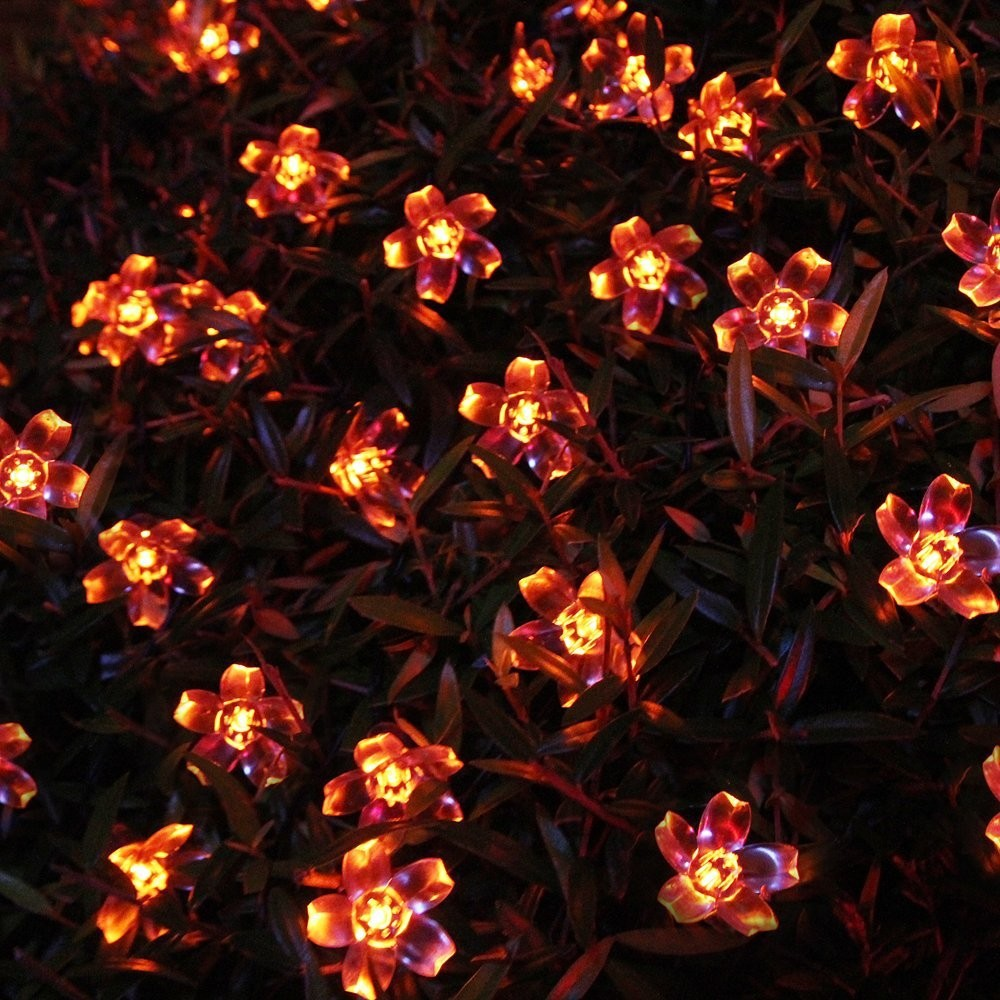Red  Solar Party Decorations Flower  String Lights  Water Proof (Includes 30 LED Lights) (3)