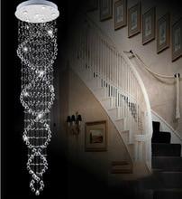 Горячие Продажи Современных Двойная Лестница Огни Сверхплотного K9 Кристалл Лампы Двойной Спирали Кристалл Потолочный Светильник Гостиная Лампы