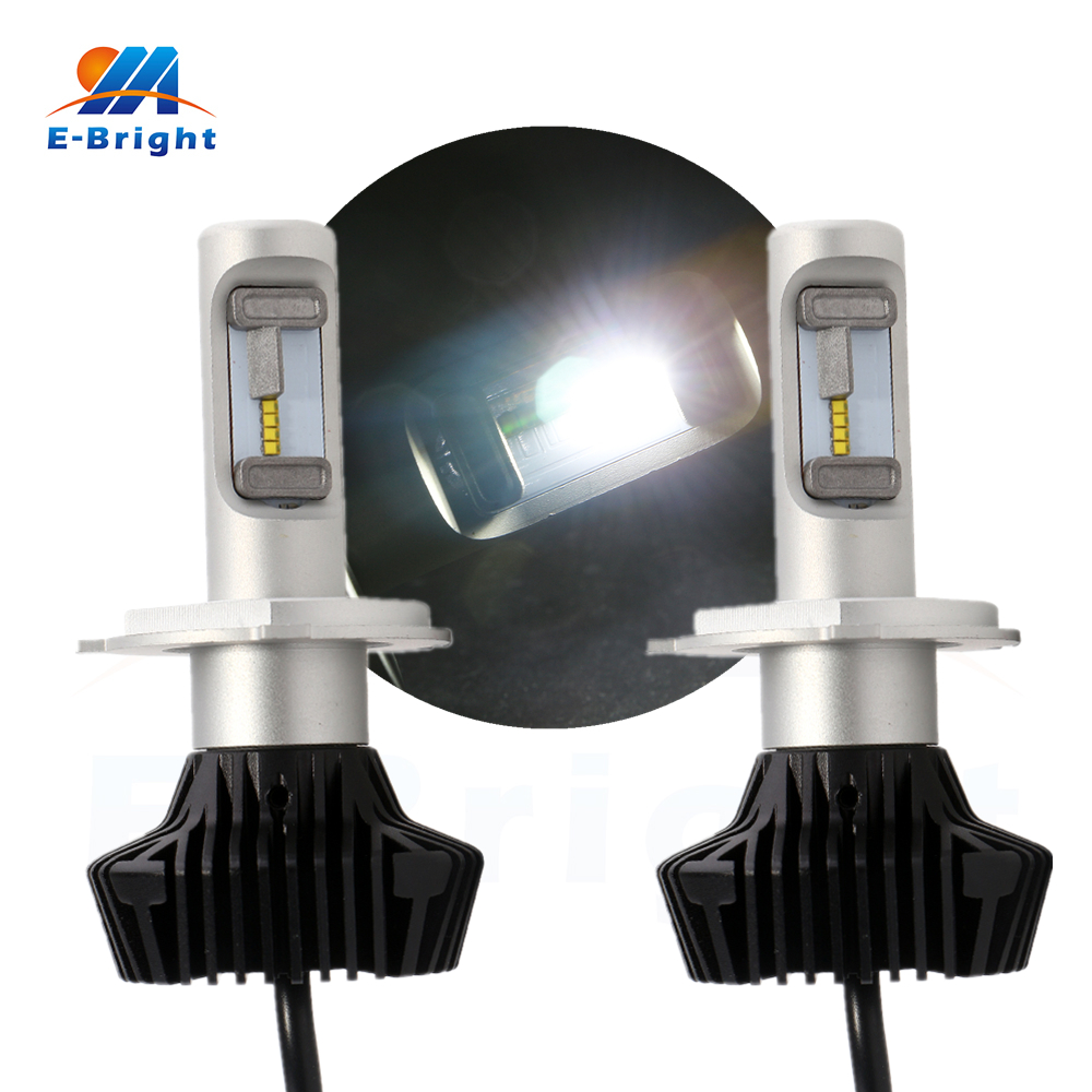 ФОТО 2pcs/set H4 High Lumens 4000LM 48Watt Front Headlight Fog Light Auto Lighting 3Wx16Leds LED bulbs 360 Beam Angle 12V 24V Led V9