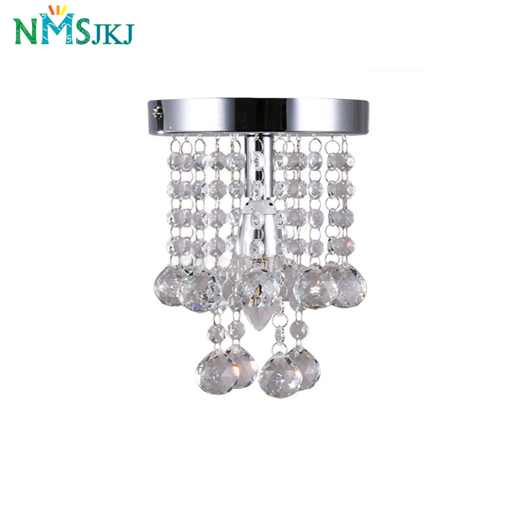 Image 2 - Modern Mini Rain Drop Small Crystal Chandelier Lustre Light With Top K9 Crystal Stainless Steel FrameD16cm H23cm-in Chandeliers from Lights & Lighting