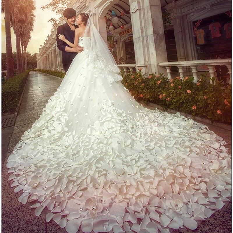 White Wedding Video: Beauty Emily Luxury Flower White Wedding Dresses 2019