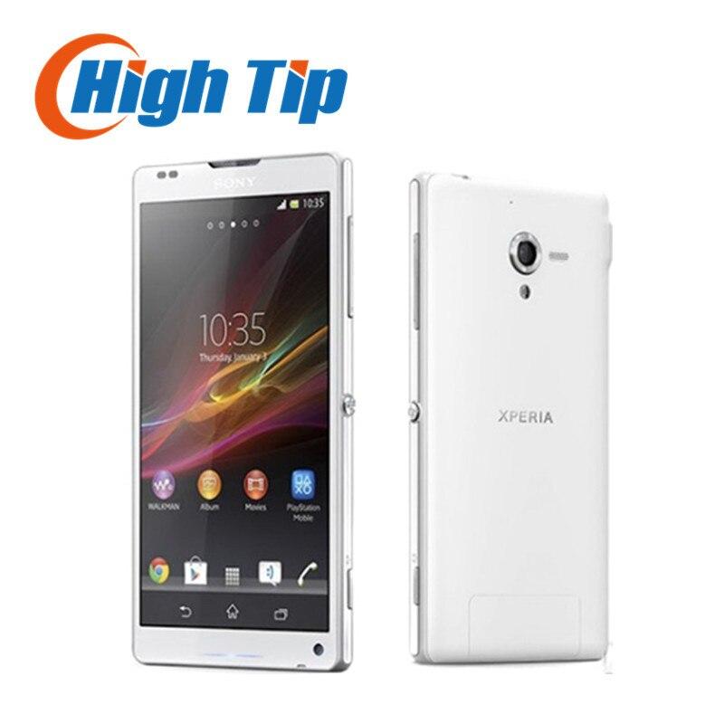 Цена за Бесплатный подарок оригинальный разблокирована оригинальный sony xperia zl l35h мобильный телефон 3 г 4 г 2 г ram + 16 г rom кач wi fi gps восстановленное