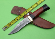100%Newest Damascus Small Hunting Knife Wood Handle Outdoor Fixed Knives Camping Tools