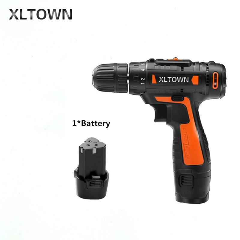 Xltown12v Cordless Mini Electric Drill Multi-energy lithium battery electric screwdriver Two-speed hand Electric drill wosai 12v lithium battery electric drill bit two speed electric cordless drill mini screwdriver hand drill electric power tools