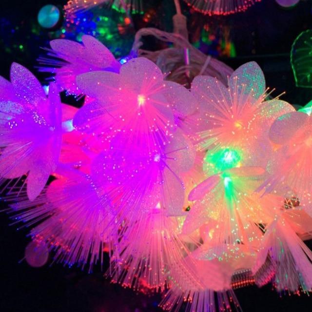 220v 10m 100 Fairy Led Lights Fiber Optic Lighting Garland String Lamps Indoor Christmas Party Wedding Luminaria Decoration