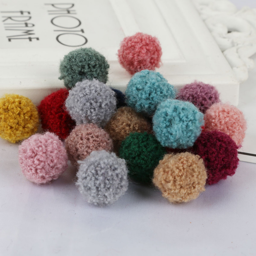 15mm 20mm Soft Pompones Fluffy Plush Crafts DIY Pom Poms Ball Furball Home Decor Sewing SuppliesSewing Supplies Earring Jewelry