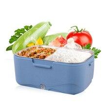 VOCORY Olla arrocera portátil de 1,5 l, fiambrera eléctrica con calefacción, calentador de comida caliente, contenedor de almacenamiento de 12V en coche o 24V en camión