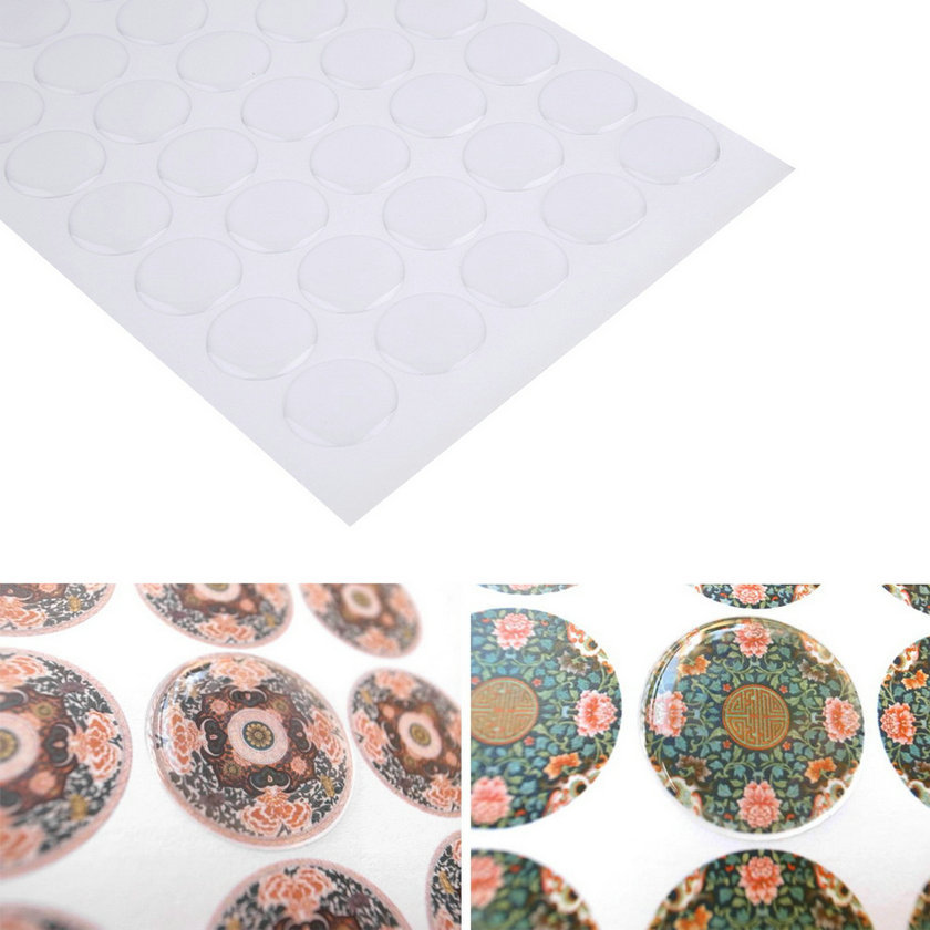 300pcs 1 Inch Transparent Dome Circle Epoxy Bottle Cap Stickers Water Resistant Crystal Epoxy Sticker For Bottle Cap Crafts